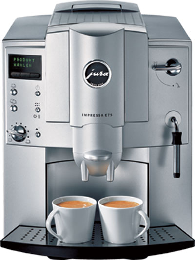 jura impressa e75 automatic espresso machine and bean. Black Bedroom Furniture Sets. Home Design Ideas